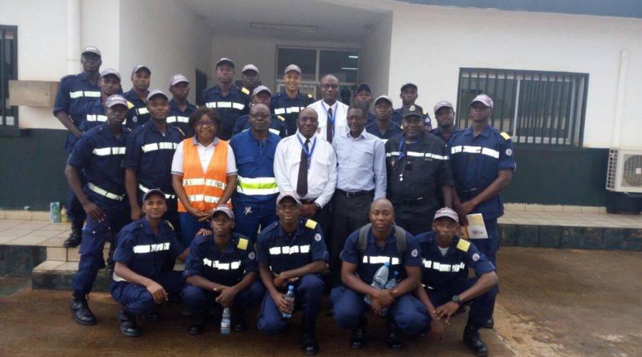 visite des pompiers de l'ERSI à la SCDP