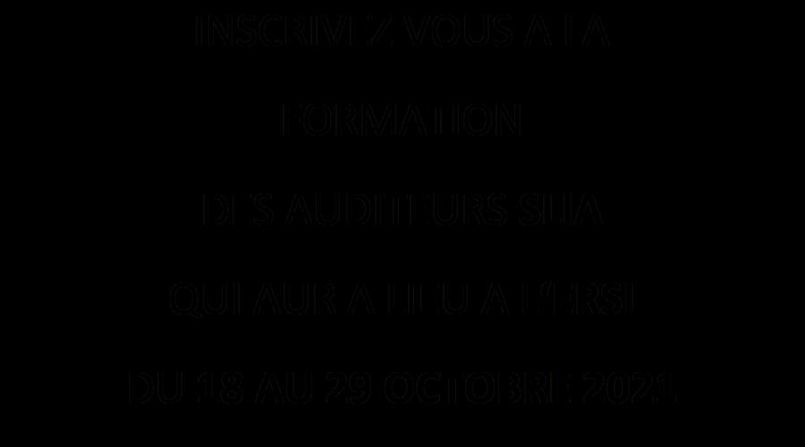 Inscription formation auditeur inspecteur SLIA
